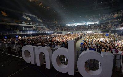 Socios de ANDA colmaron el Antel Arena en una divertida jornada solidaria